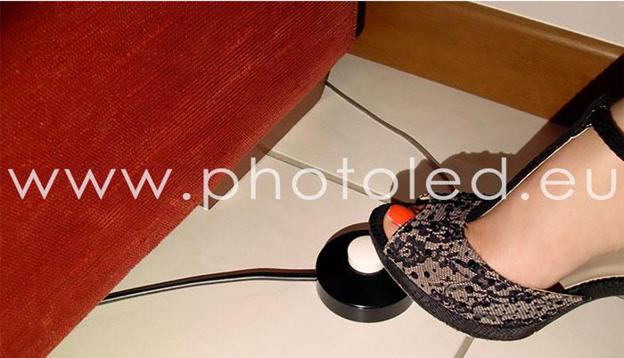 Produzione Lightbox e pannelli LED Photoled pulsante a pedale