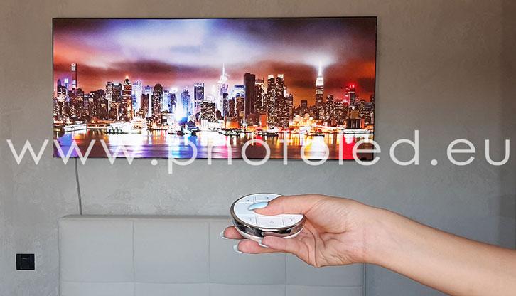 Produzione Lightbox in Italia PHOTOLED Telecomando dimmer LED
